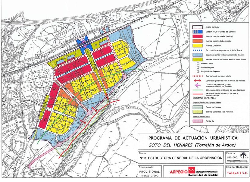12: Plano de Estructura General de la Ordenación del PAU