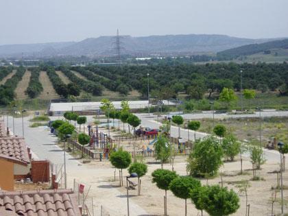 21: Espacio libre lineal que conecta con el Olivar del Espinillo (Estado de las obras en abril/2008)