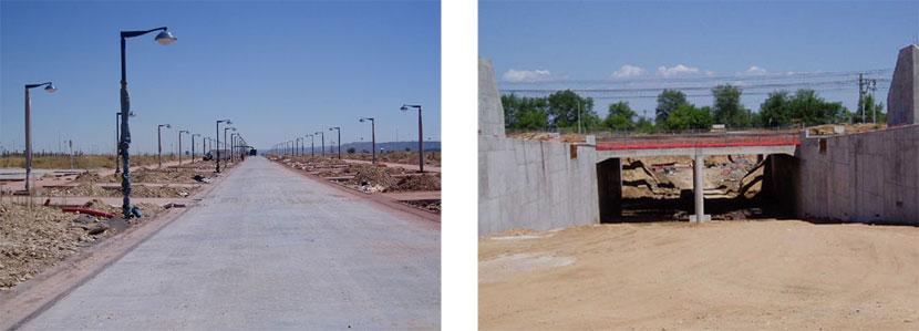36: Inca bajo el ferrocarril. Estado de las obras en septiembre 2005