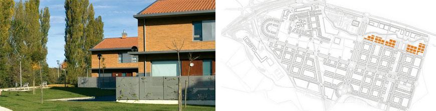 Figura 15. Aspecto y ubicación de las viviendas-jardín