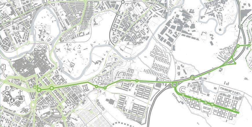 Figura 24. Transporte urbano comarcal que conecta Sarriguren con el centro de Pamplona