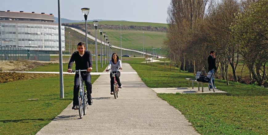 Figura 25. Aspecto de la red de caminos peatonales y ciclistas